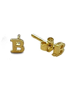 Initial Letter Stud Earrings