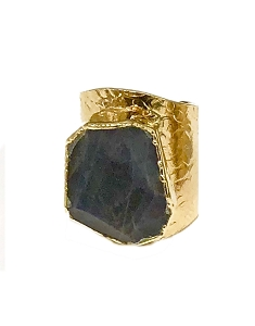 Labradorite Cigar Gold Ring