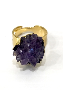 Amethyst Gemstone Gold Ring