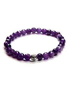 8MM Natural Gemstone Amethyst Beaded Stretch Bracelet