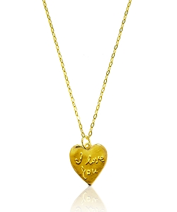 I Love You Heart Pendant