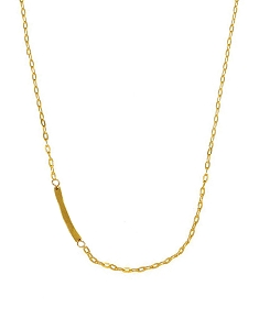Sideway Bar Pendant Short Necklace