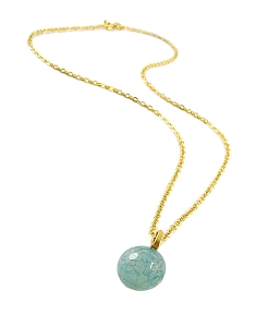 Aqua Ball Gold Pendant