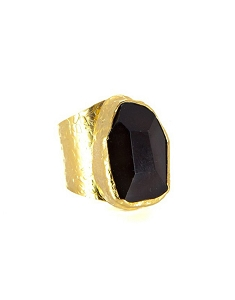 Cigar Onyx Gold Ring