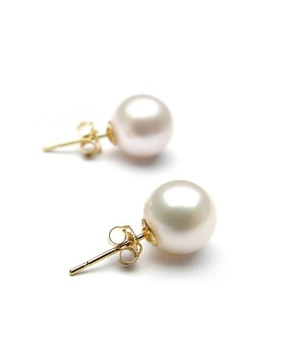 Pearl Stud Gold Earring