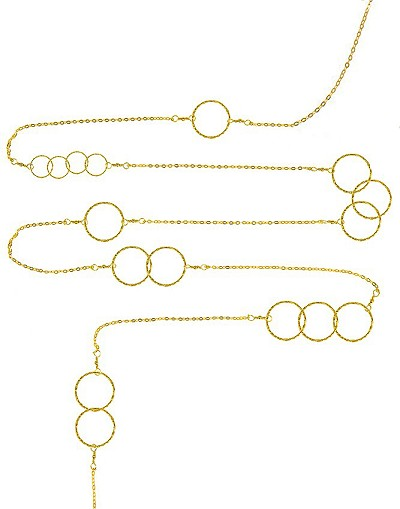 Multiple Circles Long Necklace