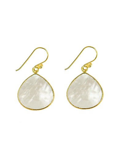 Pearl Teardrop Gemstone Earrings