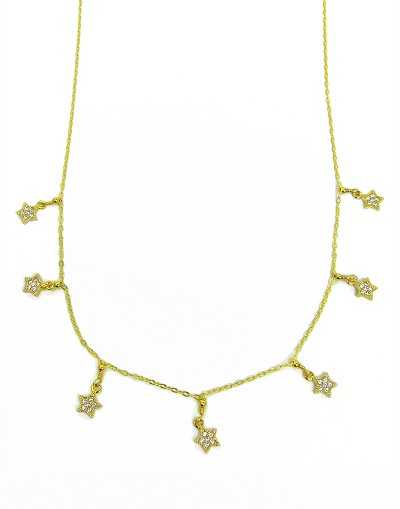 Stars Dangles Pendant Necklace